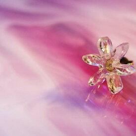 『Snow flower 〜 硝子の雪 〜』 ガラスアクセサリー ピアス・イヤリング