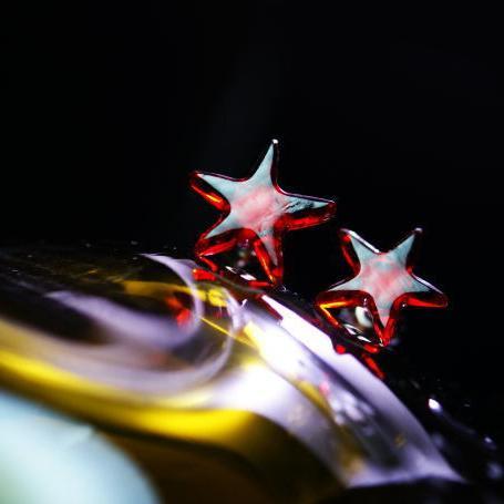 『Passion star/ピアス』 ガラスアクセサリー ピアス・イヤリング