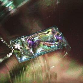 『RAINBOW PLATE』 ガラスアクセサリー ネックレス・ペンダント 四角・多角・星タイプ