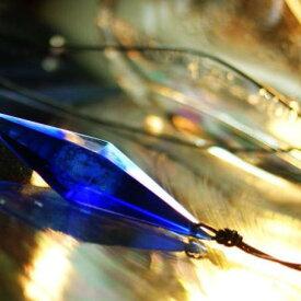 『Dreamblue 〜 ムーンライト 〜』 ガラスアクセサリー ネックレス・ペンダント 立体造形タイプ