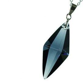 『Standard Dreamblue / チャコールグレー』 ギフトやご結婚祝いに ガラスアクセサリー ネックレス・ペンダント 立体造形タイプ