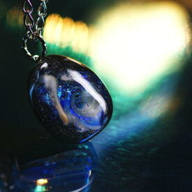 『Galaxy 〜 Mystic drop 〜』 ガラスアクセサリー ネックレス・ペンダント 円・楕円・ドロップタイプ