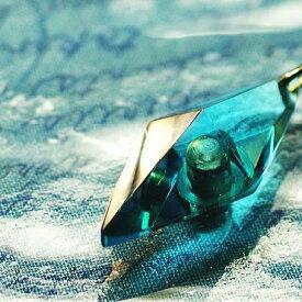 『かんたん封入ペンダント / Standard Dreamblue(ターコイズブルー)』 ガラスアクセサリー ネックレス・ペンダント 立体造形タイプ