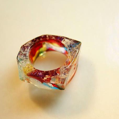 『Energy Earth』 ガラスアクセサリー リング・指輪 デザインタイプ