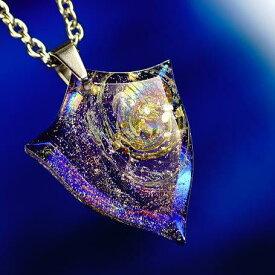 『Mystic rainbow emblem』 ガラスアクセサリー ネックレス・ペンダント ダイカット(平面造形)タイプ