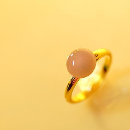 『Lavender 〜 シンプルリング 〜』 ガラスアクセサリー リング・指輪 ノーマルタイプ