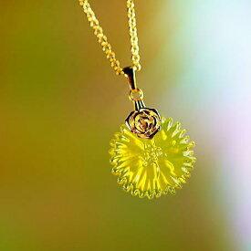 『Cute Aster』 ガラスアクセサリー ネックレス・ペンダント 円・楕円・ドロップタイプ