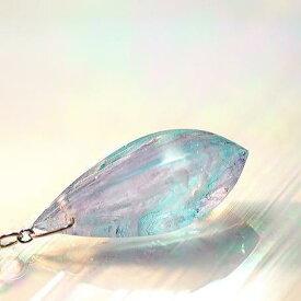 『Fascination polyhedral drops』 ガラスアクセサリー ネックレス・ペンダント 立体造形タイプ