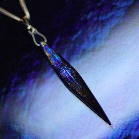 『Flashing meteor』 ガラスアクセサリー ネックレス・ペンダント 立体造形タイプ