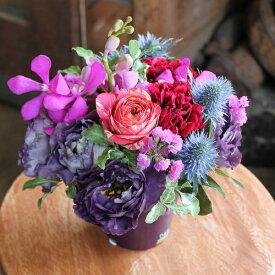 パピヨンパープル■花 アレンジメント 花束 ローズ ばら 薔薇 記念日 結婚祝い 贈り物 お祝い即日発送 フラワー ギフト プレゼント 誕生日 出産祝い 結婚記念日 開店祝い 開店祝い 花 おしゃれ バラ お供え お悔やみ 紫