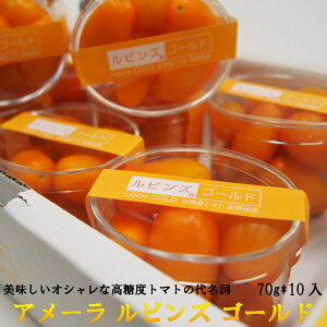 糖度10度以上 アメーラルビンズゴールド 高糖度ミニトマト 70g*10入 静岡県産 長野県産 出荷基準糖度10度以上 ギフト用 手土産 贈答 おすすめ 高糖度 高品質【ラッキーシール対応】