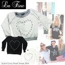 【LA FINE-ラファイン】Cross Heart Sweat Shirt