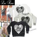 【LA FINE-ラファイン】Paisley Kross L/S Sweat Shirt