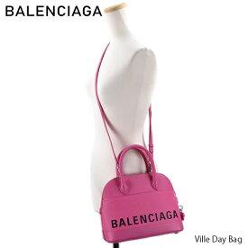 【送料無料】【並行輸入品】『BALENCIAGA-バレンシアガ-』Ville Day Bag 〔518873 0OTA3〕-ヴィル ビル トップ レザー ハンドバッグ ショルダーバッグ 南京錠付き ピンク-