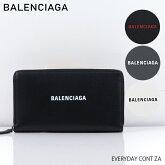 【送料無料】【2019SS】【新作】【並行輸入品】『BALENCIAGA-バレンシアガ-』EVERYDAYCONTZA〔551935/DLQ4N〕-エブリデイラウンドファスナー長財布レザーロゴブラック-