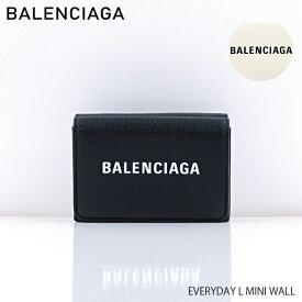 【送料無料】【2019 SS】【新作】【並行輸入品】『BALENCIAGA-バレンシアガ-』EVERYDAY L MINI WALL〔551921/DLQ4N〕-エブリデイミニウォレット 三つ折り財布 レザー ロゴ ブラック