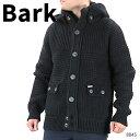 BARK バーク ニットカーディガン ニットジャケット メンズ ウール アウター コート グレー ネイビー ブラック〔8045〕