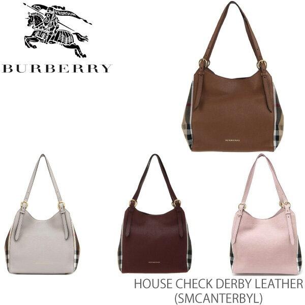 【送料無料】【BURBERRY-バーバリー】SM CANTERBY L House Check Derby Leather [レディース ショルダーバッグ]