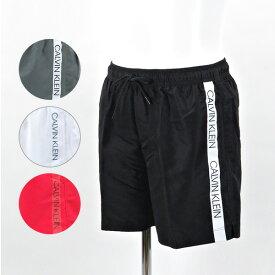《返品交換不可》【2019SP】【並行輸入品】『Calvin Klein-カルバンクライン-』MEDIUM DRAWSTRING〔KM0KM00294〕メンズ ビーチウェア 海パン 水着