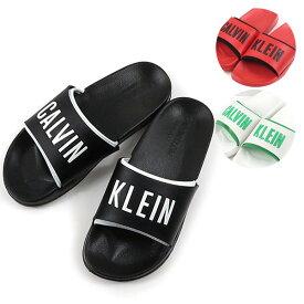 Calvin Klein カルバンクライン SLIDE 〔KW0KW00779〕レディース スライド シャワーサンダル コンフォートサンダル
