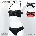 《上下別売り水着:トップ》《返品交換不可》【2019 SS】【並行輸入品】『Calvin Klein-カルバンクライン-』BANDEAU-RP スイムウェア 水着〔KW0KW00546〕