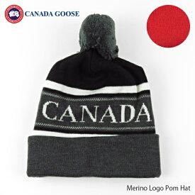 【スーパーセール期間 最大1000円OFFクーポン配布中】CANADA GOOSE カナダグースMerino Logo Pom Hat メリノウール ロゴ ニット帽 帽子[6193M]