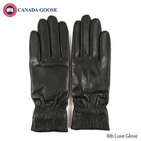 CANADA GOOSE カナダグースRib Luxe Glove レディース リブラックスグローブ タッチスクリーン機能 手袋 ブラック[5287L]