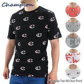 【ネコポス配送:1枚まで】【並行輸入品】『Champion-チャンピオン-』Heritage Tee All Over Print ヘリテイジ Tシャツ 半袖 メンズ ユニセックス ロゴ 総柄〔T1919S〕『150時間限定! ポイント最大44倍!お買い物マラソン』