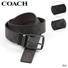 【並行輸入品】COACH コーチ Belt アウトレット メンズ ベルト リバーシブル シグネチャー 無地[F64839]