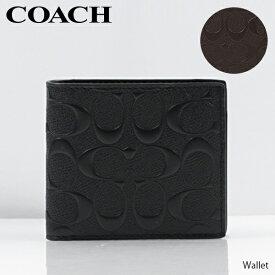 【並行輸入品】『COACH-コーチ-』Wallet アウトレット メンズ 財布 二つ折り財布 小銭入れ シグネチャー[F75363]【お買い物マラソン!ポイント最大44倍!】