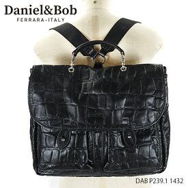 Daniel&Bob ダニエルアンドボブ 2Way Bag COCCONE メンズ ビジネスバッグ ハンドバッグ リュック クロコ レザー[DAB P239.1 1432]