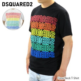 【2020SS】 DSQUARED2 ディースクエアード Tシャツ Crew Neck T Shirt クルーネック 半袖 ロゴ メンズ[S71GD0876 S22844]