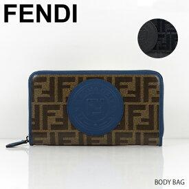 【送料無料】【2019 SS】【新作】【並行輸入品】『FENDI-フェンディ-』WALLET[7M0210A5K4]-FFロゴ モノグラム柄 ロゴスタンプ ラウンドジップ 長財布-
