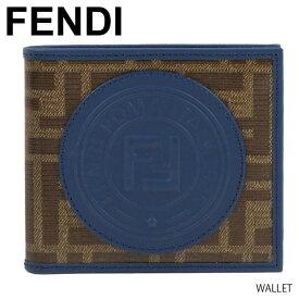 【予約】【送料無料】【2019SS】【並行輸入品】『FENDI-フェンディ-』WALLET 二つ折り財布 メンズ FFロゴ モノグラム ロゴパッチ[7M0169A5K4]《ご注文後3日前後発送予定》