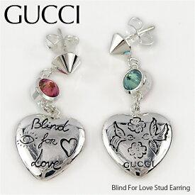 《返品交換不可》GUCCI グッチ Blind For Love Stud Earring ブラインドフォーラブ ピアス ハート〔YBD50216600100U〕