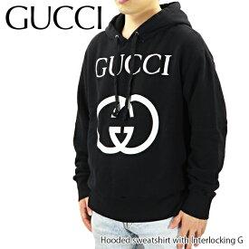 【500円OFFクーポン対象】GUCCI グッチ Hooded sweatshirt with Interlocking G インターロッキング フード付き スウェットシャツ 長袖 メンズ[475374 X3Q25 1289]