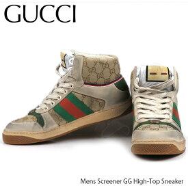 【並行輸入品】GUCCI グッチ Mens Screener GG High Top Sneaker[563730 9Y9P0 9661]メンズ スクリーナー GG ハイ トップ スニーカー