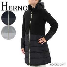 HERNO ヘルノ Hooded Coat PI0848D 39601 ダウンジャケット ダウンコート フード取り外し可能 異素材 レディース