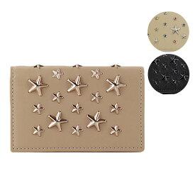 【送料無料】【並行輸入品】【2018 AW】『JIMMY CHOO-ジミーチュウ-』NELLO Deerskin with Crystal Stars カードケース【お買い物マラソン!ポイント最大44倍!】