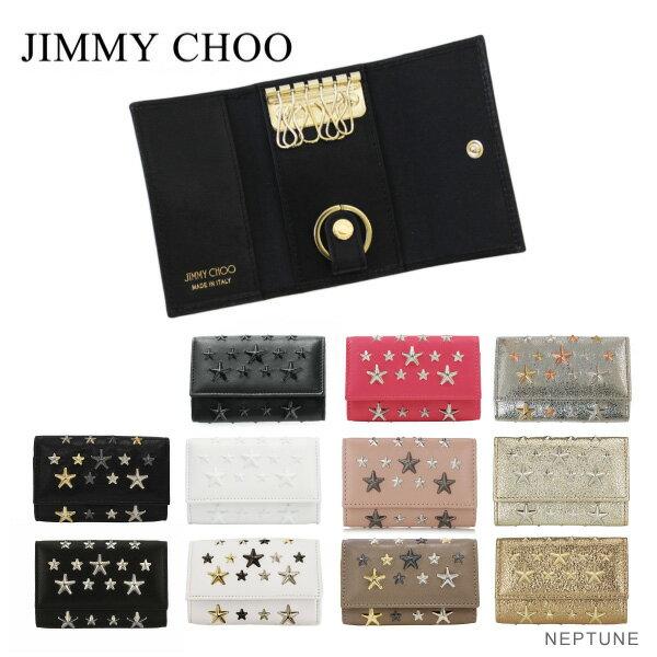 【送料無料】【2017 Fall】『JIMMY CHOO-ジミーチュウ-』NEPTUNE-ネプチューン- キーケース[スタースタッズ レザー キーホルダー キーポーチ]