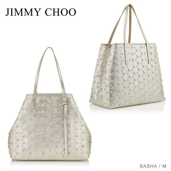 【送料無料】【並行輸入品】『JIMMY CHOO-ジミーチュウ-』SASHA M -トートバッグ-[スタースタッズ・レザー・ショルダーバッグ