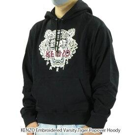 【500円OFFクーポン対象】KENZO ケンゾー KENZO Embroidered Varsity Tiger Popover Hoody エンブロイダード バラエティー タイガー フーディ パーカー 長袖 刺繍 メンズ FA65SW3114XV