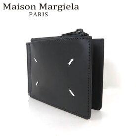 【週末限定ポイントUP】Maison Maegiela メゾンマルジェラ BI-FOLD WALLET WITH MONEYCLIP Black メゾン マルジェラ カーフレザー 二つ折り財布 刺繍 メンズ S35UI0447 PS935 T8013