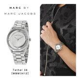 【予約】【送料無料】『MarcbyMarcJacobs-マークバイマークジェイコブス』Tether36腕時計[MBM3412][レディースメンズティザーアナログクォーツシルバー]《9月26日前後発送予定》