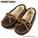 【並行輸入品】『MINNETONKA-ミネトンカ-』CASSIE SLIPPER Children's キッズ モカシン ボア キッズ 靴 モカシン シ…
