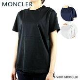 【並行輸入品】【2019SS】【新作】『MONCLER-モンクレール-』T-SHIRTGIROCOLLO-ロゴワッペン付クルーTシャツ-[80834008390X]
