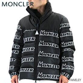 【送料無料】【2019 AW】【並行輸入品】『MONCLER-モンクレール-』FAIVELEY フェヴレ メンズ ダウンジャケット 総柄 ロゴ ブラック[41326 85 539NE]『150時間限定! ポイント最大44倍!お買い物マラソン』