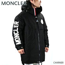 【送料無料】【2019 AW】【並行輸入品】『MONCLER-モンクレール-』CHARNIER シャルニエ メンズ ダウンコート ブラック 無地 ロゴ[42360 05 C0078]