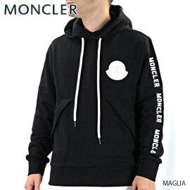 【送料無料】【2019AW】【並行輸入品】『MONCLER-モンクレール-』MAGLIAマリアメンズプルオーバーパーカーフーディブラック無地ロゴ[8046450V8048]