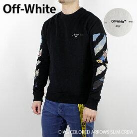 【送料無料】【2019 SS】【新作】『Off-White-オフホワイト-』DIAG COLORED ARROWS SLIM CREW-ダイアグ カラード アロウズ スリムフィット スウェット -トレーナー〔OMBA025R19003012〕